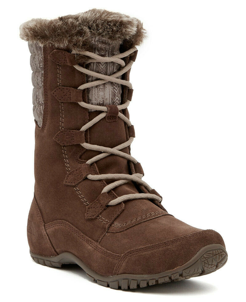 NEW The NORTH FACE Nuptse Purna II Lace-Up Waterproof Boot US 10.5 Carafe Brown