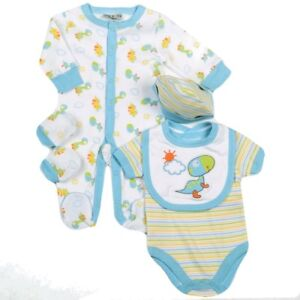 b7c0abe7 Baby Boy Clothes 5 Piece Gift set layette Watch Me Grow Newborn 0-3m ...