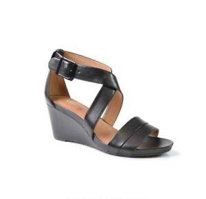 Acina Newport Clarks Uk 4d formato Nuova pelle in scarpa nera pnWHH1RXq