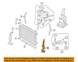 audi oem 05 09 s4 4 2l v8 radiator air duct left 8e0121283m ebay rh ebay com 2005 audi a6 radiator diagram Audi 2007 Radiator Cap