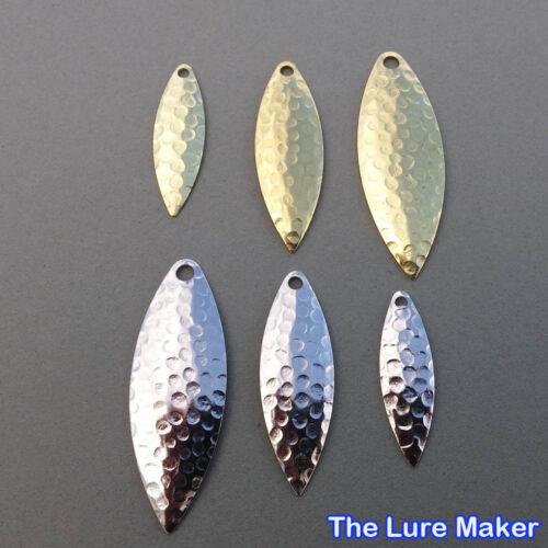 Willow Blatt Spinner Fischen Klingen Köder Messing oder Nickle 10 Or 25 Sizes 3
