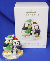 Hallmark Ornament Baby Makes Three 2012 Baby's First Christmas Penguins