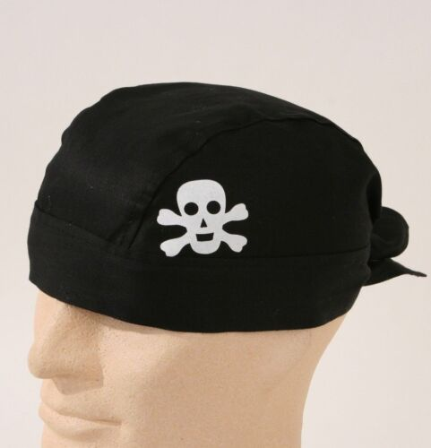 Bandana schwarz mit Totenkopf Skull Biker Rocker Kopftuch Pirat 123885913