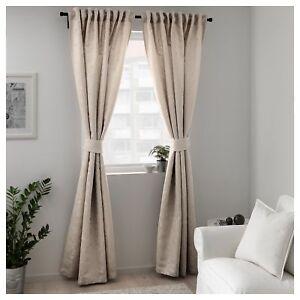Ikea Sheer Curtains LISABRITT Living Room Bedroom Window ...