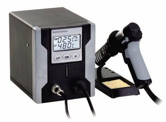 UK-PHONECASEONLINE LEAD FREE DESOLDERING STATION WITH LCD PANEL ZD-8915 grau110V