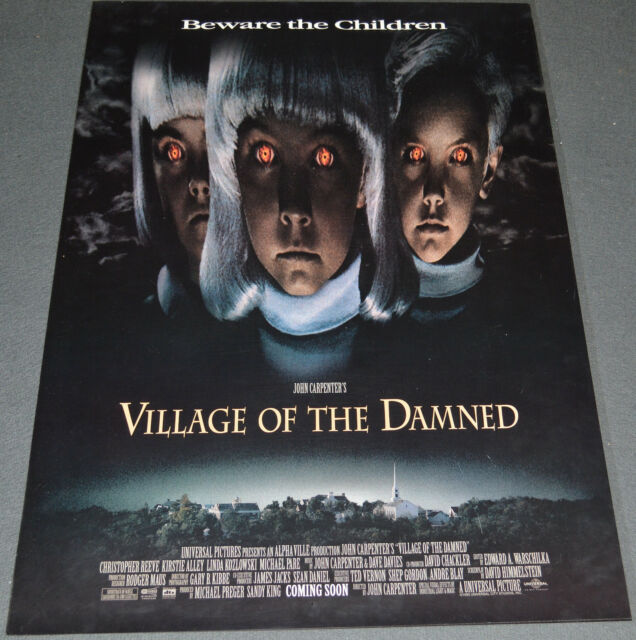 village of the damned 1995 original 11 x 17 movie poster john