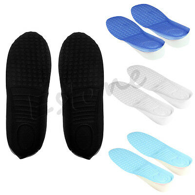New 1Pair 3CM Man Women Up Height Increase Heel Insoles Taller Pads Shoe Pad