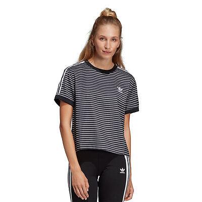 ADIDAS Boyfriend T-Shirt woman black Damen T-Shirt schwarz