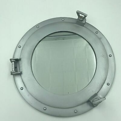 Aluminum Porthole Mirror 17inch W// Chrome Finish Nautical Ship D/écor