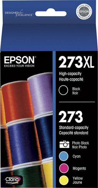 T273XL-BCS Genuine Epson 273XL B//273 C,M,Y,PB 5Pk Ink Cartridges OEM Sealed