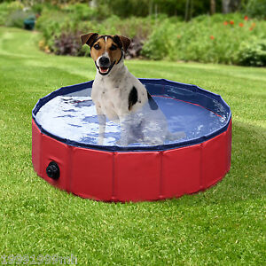 "PawHut Folding Splash About Dog Pool Pet Swimming Pool Outdoor Dia. 31.5"""