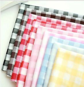 20mm-Simple-checked-Cotton-30-039-s-Pre-dyed-Gauze-Cotton-fabric-Muslin-check-JG19