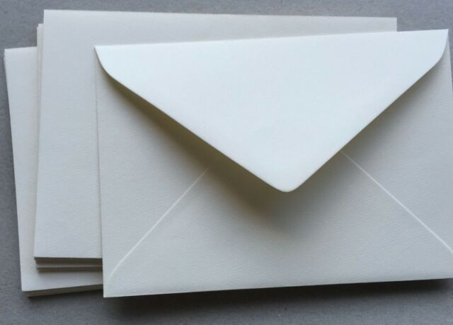 60 x C5 IVORY CREAM Textured Envelopes Size 162x229mm Invitation Envelopes