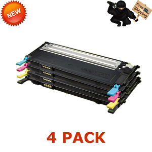 4 CLT-409S CMYK COLOR Toner Set For Samsung CLP-310 CLP-315W CLX-3175FW CLX-3175