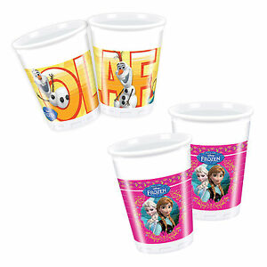 DISNEY-FROZEN-Princess-Birthday-Party-Tableware-Supplies-Cup-Plastic-Cups-x8