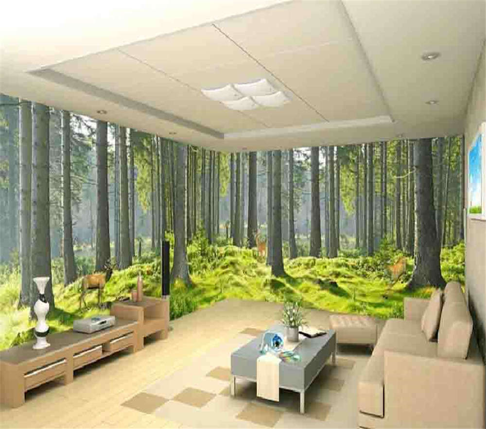 Lawn Laid Under Tree 3D Full Wall Mural Photo Wallpaper Printing Home Kids Decor