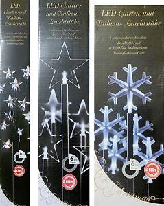 Weihnachtsbeleuchtung Für Balkongeländer.Details Zu Led Garten Balkon Leuchtstäbe Weihnachtsbeleuchtung Sterne Schneeflocke Timer