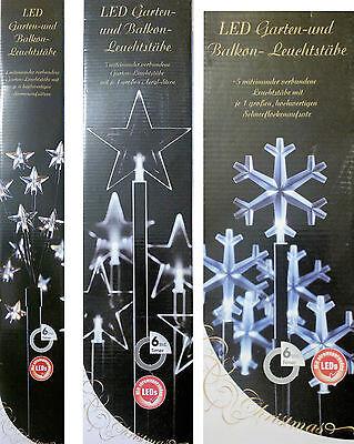 Led Weihnachtsbeleuchtung Balkon.Led Garten Balkon Leuchtstäbe Weihnachtsbeleuchtung Sterne Schneeflocke Timer Ebay