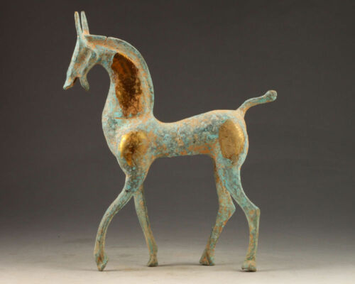 FAVONIAN COPPER COLLECTION HANDCRAFTED CARVED OLD HORSE STATUE DECORATION