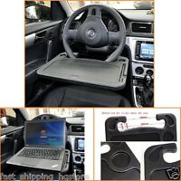 Laptop Steering Wheel Desk Auto Car Computer Mount Holder Eating Tray Stand