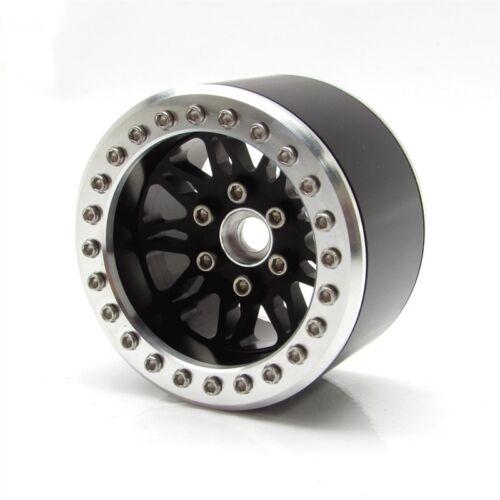 GEA1401 Gear Head Radio Control 2.2 Vegas Verrou de talon Wheels-Matte Noir 4