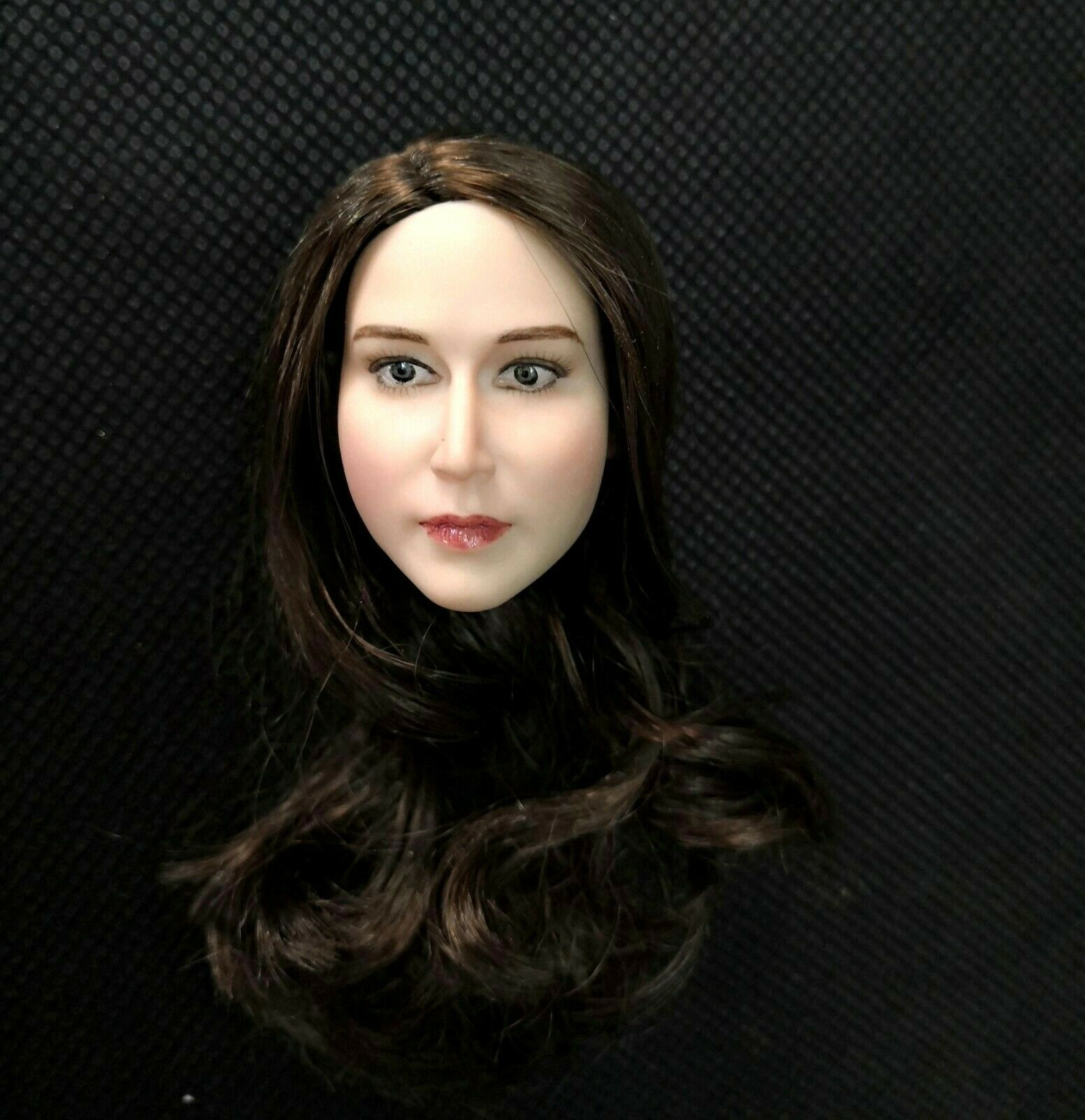 1 6 Scale Female Adele Head Sculpt White Skin Brown Hair Fit 12   Body Toys