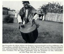 Ostafrika * Uganda * Hima- Tommler des Sultan von Bukoba * Bilddokument um 1938