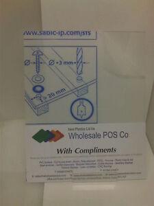 1.5mm Plastica Trasparente Acrilico Perspex Foglio Dimensione A4 x 2 pannelli molto sottile