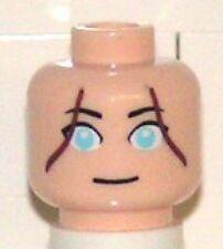 LEGO - Minifig, Head Female with Blue Green Eyes, Brown Hair Lines (Katara)