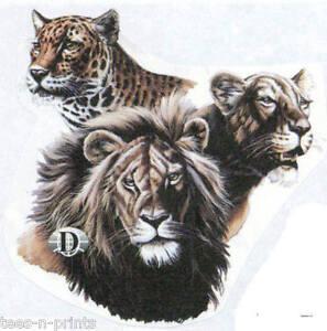 TEE-SHIRT-BIG-CATS-LION-LEOPARD-amp-PUMA