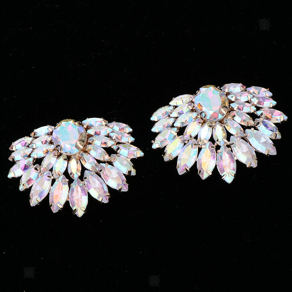 2 Shoe Clips with Rhinestones, Appliques for Shoes, Decorative Buckles for Shoes