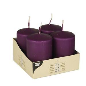 4 violet cigare bougies ø 50 mm 80 mm bloc bougies stumpe Fête Bougie 10488-afficher le titre d`origine