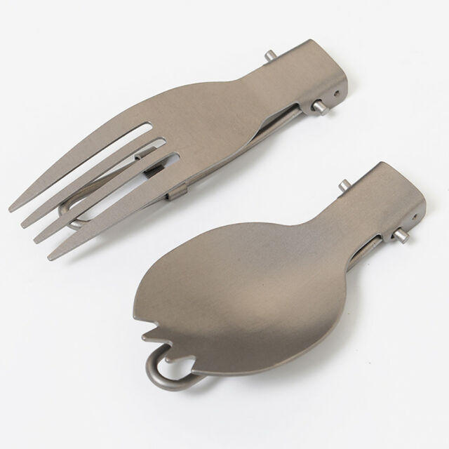 Outdoor Titanium Spork Spoon Picnic Camping Cutlery Lunch Box Fork Cutter Spoon