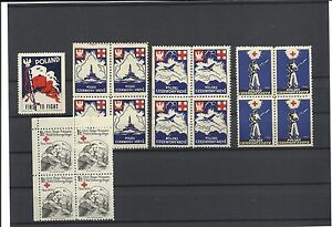 Poland-WW-II-Rare-Red-Cross-Labels-Mnh-Pol-9