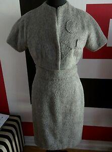 Short Skirt 8 Dress Pencil Women's Classic 6 Alpacca Sz Rare Grey W Wool Jacket vZYxxOW