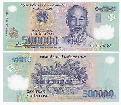 2008 VIETNAM 500,000 500000 DONG POLYMER P-124 UNC /> BIRTHPLACE IN KIEM LIN