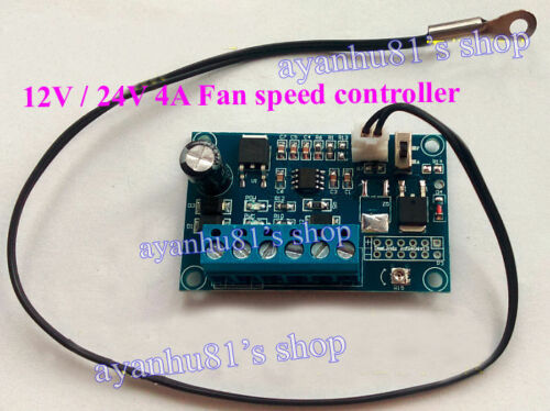 12V-24V-DC-4A-PWM-PC-CPU-Fan-Temperature-Control-Thermostat-Speed-Controller