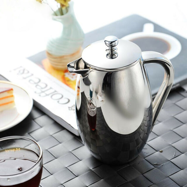 350ml Stainless Steel Cafetiere French Press Coffee Maker With Plunger Filter