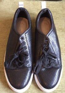Clarks-Somerset-Mujer-Negros-Planos-Zapatos-Casuales-con-Cordones-Talla-6-5D