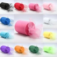 """6""""x 25yd Tulle Roll Spool Tutu Wedding Party Gift Fabric Craft Decorations s"""