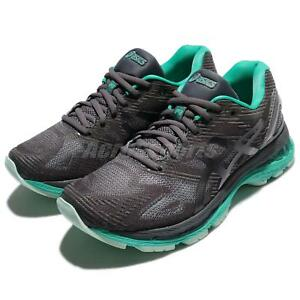 Asics-Gel-Nimbus-19-Lite-Show-Dark-Grey-Green-Women-Running-Shoes-T7C8N-9590