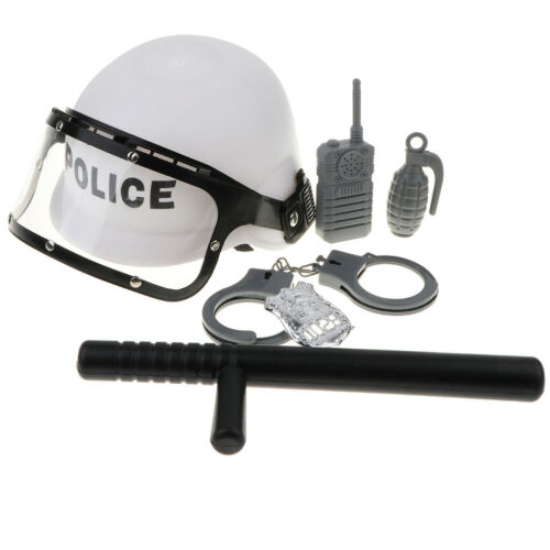 Kids Police Man Role Play Toy Accessories 6pcs Waie-taie Helmet Hat Set