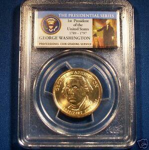 2007-P-WASHINGTON-UNC-GOLDEN-DOLLAR-PCGS-GRADED-MS-66