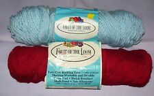 FRUIT OF THE LOOM YARN- CRANBERRY AND LIGHT BLUE