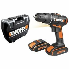 WORX WX366.5 18V (20V MAX) Cordless Combi Hammer Drill with x2 1.5Ah Batteries