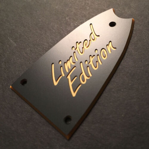 GUITAR TRUSS ROD COVER Engraved EPIPHONE Scoop Casino LIMITED EDITION BLACK GOLD