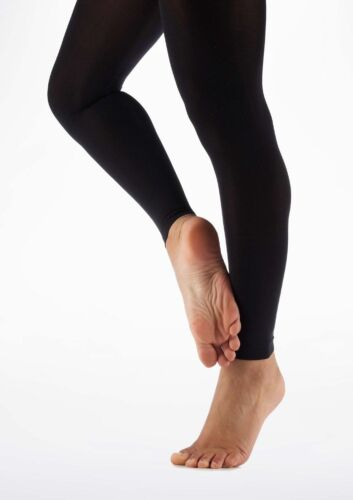 Adults Women Footless Tights For Ballet Jazz-Gymnastic-Dance Black Modern-Tap