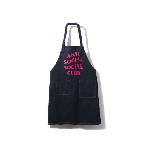 Antisocial Social Club Martha Apron ASSC Denim Navy Pink One Size New in Bag
