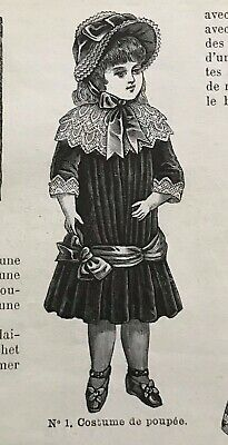 DIGITAL version French MODE ILLUSTREE SEWING PATTERN Dec 5,1875 DOLL OUTFITS