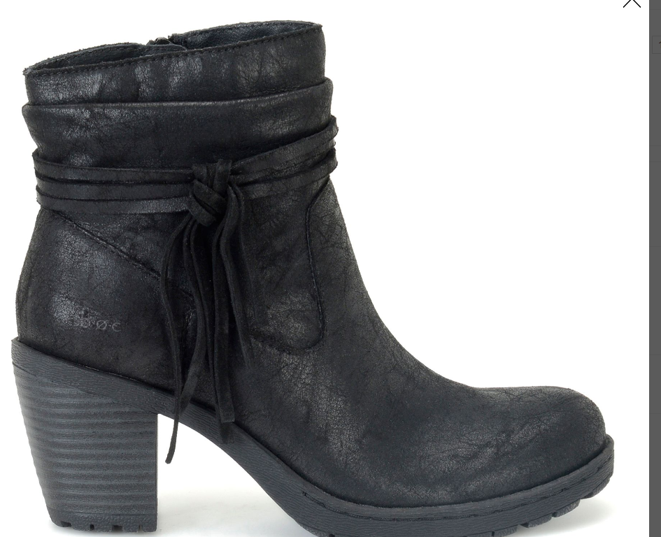 NEU BORN B.O.C ALICUDI BLACK ANKLE BOOTS Damenschuhe 9 Z25509 BOOTIES W/ TASSEL